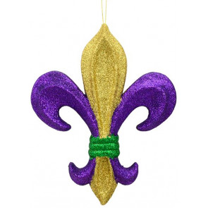 10 pgg glitter fleur de lis ornament 10 - Mardi Gras Decorations