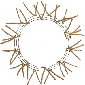 20 30 tinsel work wreath form burlap - Wire Wreath Frame With Ties